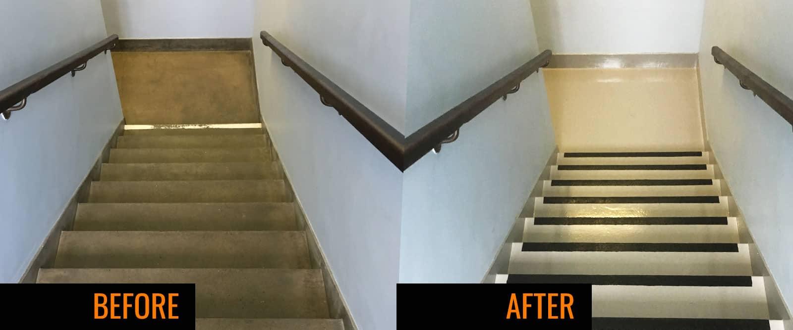 Non Slip Resing Bound Staircase