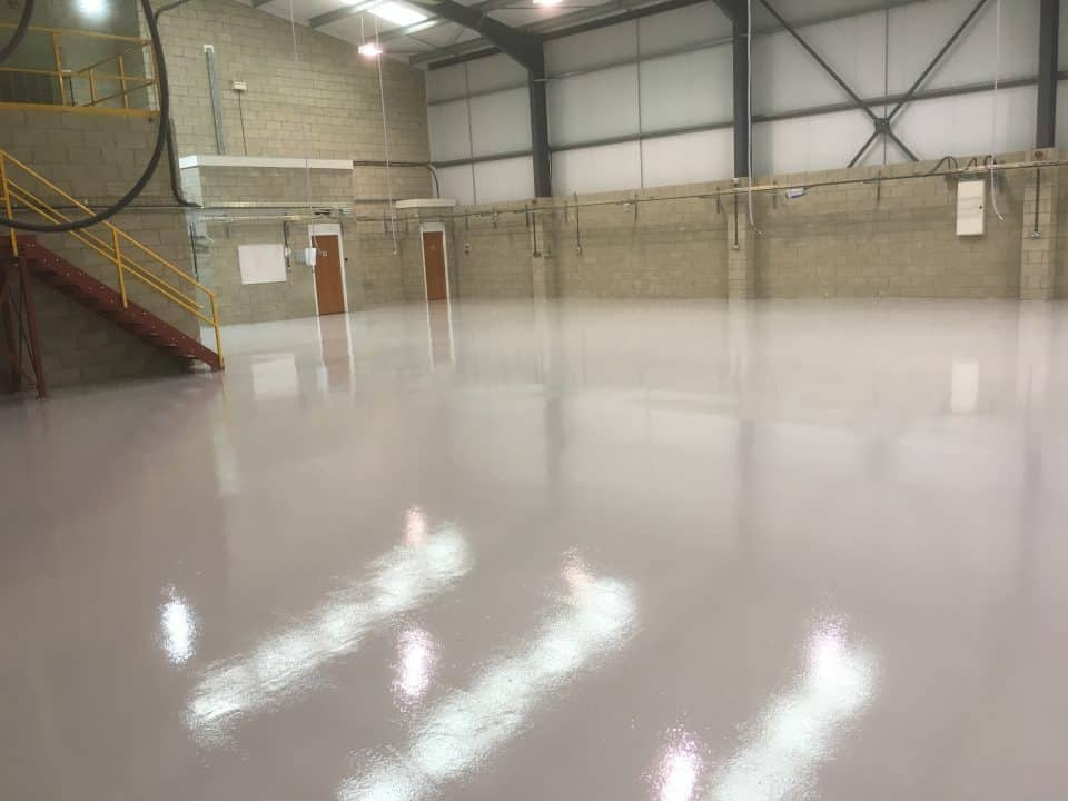 big factory resin durable flooring