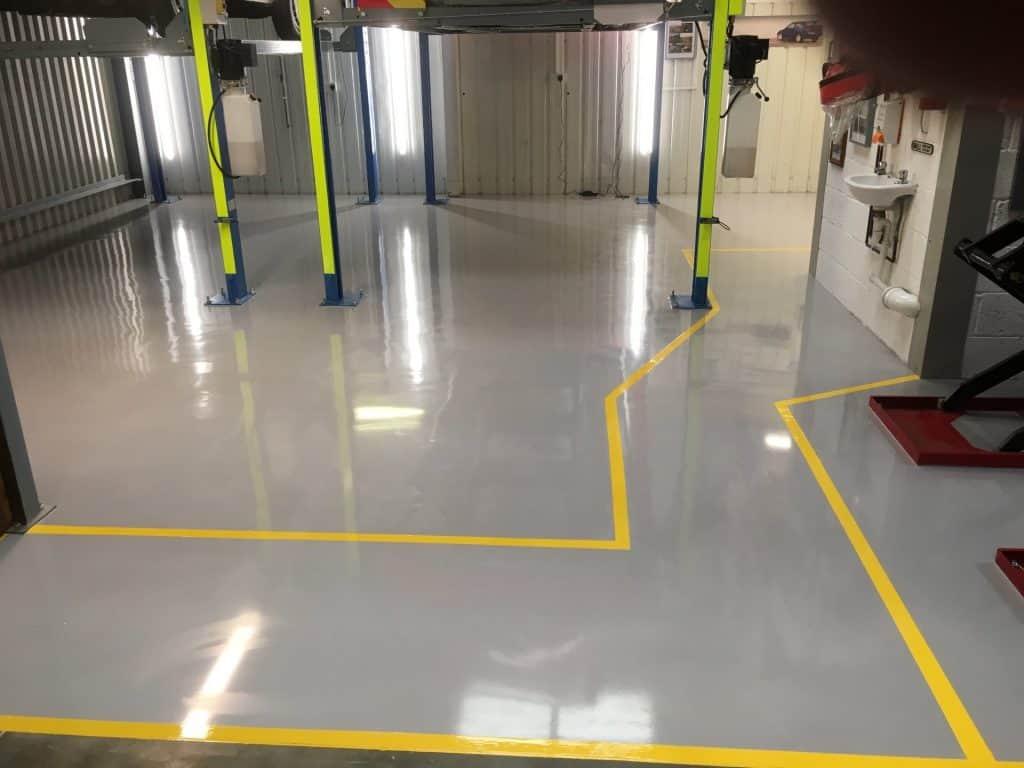 car garage factory floor