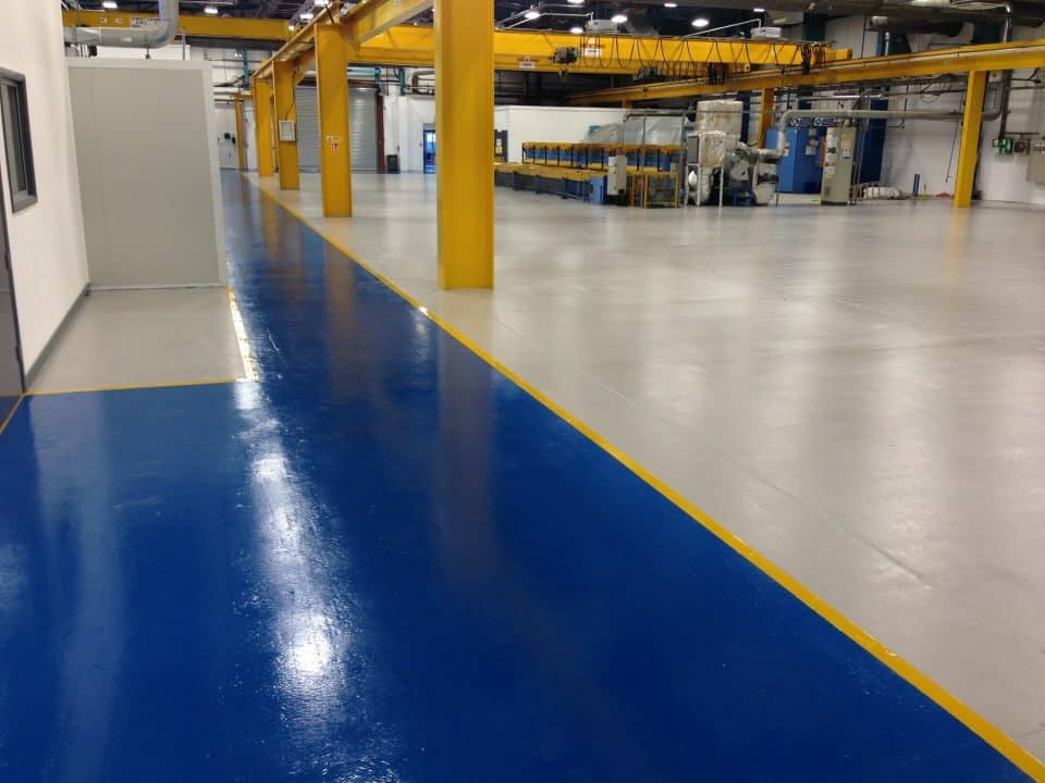two tone resin floor in Industrial Resin Flooring