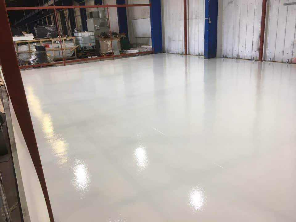Durable resin industrial floor
